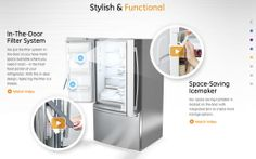 This GE website has some cool interactives using HTML 5. Yes, this refrigerator does come with an app.