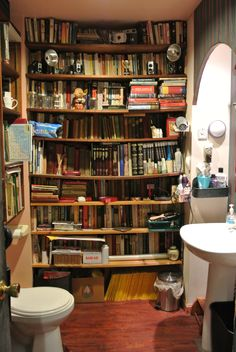 This is my library-bathroom