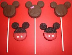 Dip it in Chocolate: Mickey Mouse Oreo Pops