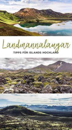 Landmannalaugar ist der schönste Einstieg in Islands Hochland. Etwa 2-3 Fahrstunden von Reykjavik entfernt liegen die farbenfrohen Rhyolithberge, heißen Quellen und endlose unberührte Landschaften.   #Landmannalaugar #Island #Roadtrip #Hochland
