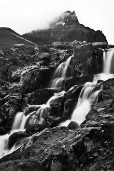 Bakkagerði waterfall by Gareth Codd Photography, via Flickr #iceland #black #landscape #nature #icelandtravel