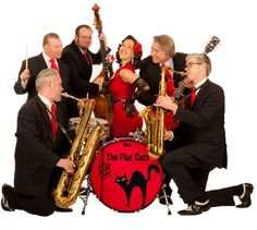 The Flat Cats perform live swinging jazz and blues #music on June 27 at 7:30 p.m. at Riverfront Park in #Algonquin.