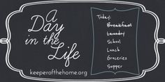 A Day in the Life: Kate, a Homeschooling WAHM of 4 - Keeper of the Home