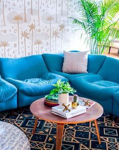 Making waves with the Tufo sectional. Dive in with #jungalowstyle.