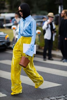 really loving velvet...partculary fresh in the Spring.....Yoyo Cao Street style by Nabile Quenum