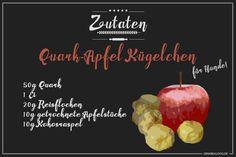 Hundekekse Rezept: Quark-Apfel Kügelchen für Hunde selbst backen