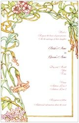 Modern Wedding Invitation Package Deal - Wedding Package for 100 Guests art nouveau