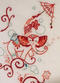 circus elephant embroidery pattern  #free #embroidery #diy #crafts