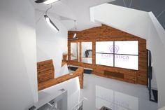 Холл учебного центра. Параметризм. Cept Design Studio. Дизайн интерьера, Архитектура, 3D-визуализация. cept-design.ru/