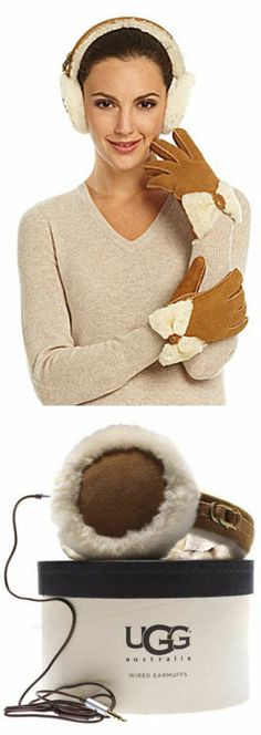UGG Suede & Fleece Earmuffs // Keep your ears toasty while listening to your favorite tunes ♥