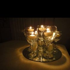Using different wine glasses with floating candles google images