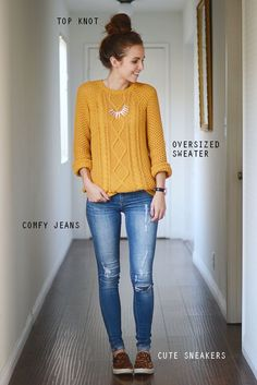 The Only 3 Outfit Ideas You Need for Thanksgiving Dinner Casual Outfit casual dinner outfits Fall Winter Outfits, Autumn Winter Fashion, Holiday Outfits, Look Jean, Moda Casual, Dinner Outfits, Party Outfits, Casual Dinner, Outfit Trends