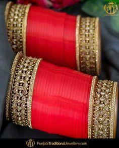 Punjabi Bridal Chura - New Design Bridal Chura Best Price Online Indian Bridal Outfits, Indian Bridal Wear, Bridal Suits Punjabi, Antique Jewellery Designs, Fancy Jewellery, Wedding Chura, Wedding Mandap, Wedding Stage, Wedding Receptions