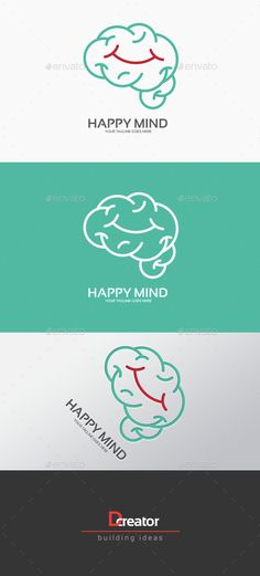 Happy Mind Logo — Transparent PNG #human #creative • Available here → https://graphicriver.net/item/happy-mind-logo/15093946?ref=pxcr