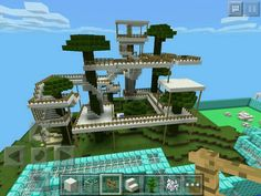Minecraft treehouse looks fantabulous! Minecraft Plans, All Minecraft, Minecraft Construction, Minecraft Tutorial, Minecraft Blueprints, Cool Minecraft Houses, Minecraft Crafts, Minecraft Buildings, Minecraft House Designs