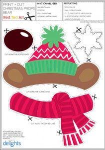 free printable Christmas photo props