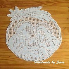 Zawieszki - Her Crochet Crochet Thread Patterns, Crochet Applique Patterns Free, Filet Crochet Charts, Beading Patterns Free, Crochet Christmas Wreath, Crochet Ornaments, Christmas Crochet Patterns, Crochet Carpet, Knit Or Crochet