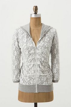 Laced Up Hoodie #anthropologie