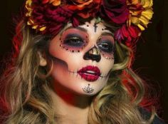Sugar Skull, Day of The Dead, Dia De Los Muertos, Catrina, Halloween, Face paint, Halloween Makeup