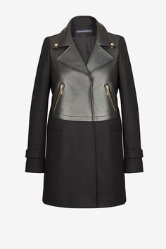 french connection, Moto Leather Wool Coat