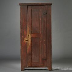 Red-painted Maple Cupboard | Sale Number 2680B, Lot Number 53 | Skinner Auctioneers