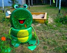 Tire recycling ideas - 22 animal-shaped garden decorations