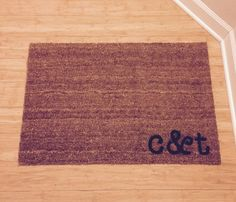 moving in gift! Cohabitation doormat from etsy