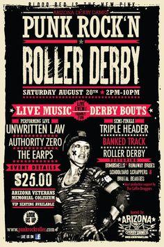 Arizona Derby Dames bout flier featuring Satan's Little Helper!