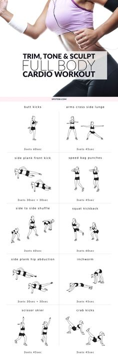 Get in shape, boost your endurance and reduce your stress levels with this intermediate workout routine for women. A set of 10 bodyweight exercises to strengthen and tighten your whole body and speed up your metabolism. http://www.spotebi.com/workout-routines/full-body-intermediate-workout-routine/