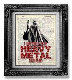 Pop+Punk+Rock+and+Roll+Art+Decor+Heavy+Metal+Art+by+GoGoBookart,+$10.00