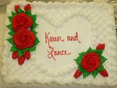 Costco Sheet Cake Lattice Heart