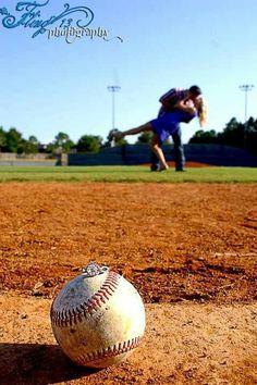 Engagement photos fling photography sports photography baseball softball