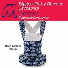 Biggest Baby Shower Boston Giveaway: Beco Baby Carrier