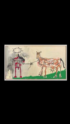 "Jean-Michel Basquiat - "" The Field Next to the Other Road "", 1981 - Acrylic, enamel spray paint, oilstick, metallic paint and ink on canvas - 220,9 x 401,3 cm"