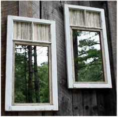 Brambleberry Cottage created these DIY garden mirrors from old windows. Backyard Fences, Backyard Projects, Outdoor Projects, Garden Projects, Backyard Ideas, Diy Projects, Fence Ideas, Project Ideas, Landscaping Ideas