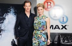 "Alice Eve and Benedict Cumberbatch  attend a footage screening of ""Star Trek-Into Darkness"" at the BFI IMAX in London, England on 12-14-2012."