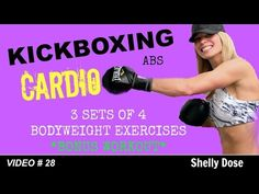 Cardio Kickboxing Workout | 30 Minutes | Bodyweight Exercises BONUS Advanced Workout - YouTube 12/11/15