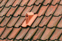 Because what homeowner doesn't want a bunch of birds living in their roof, this is a line of ceramic birdhouse roof tiles designed by Klaas Kuiken. I think they're a real product you can buy, but they only really. Casa Gaudi, Terra Verde, Red Tiles, Villa Design, Bird Houses, Bird Feeders, Clay, Crafts, House Roof