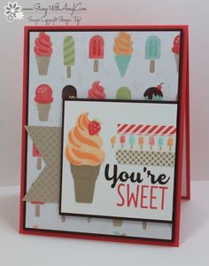 Stampin' Up! Cool Treats You're Sweet Card