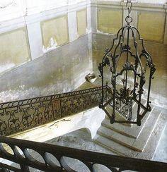 Great iron stair rail.