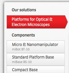 """A menu with some """"no link"""" element Electron Microscope, Drupal, Menu Items, Link"""