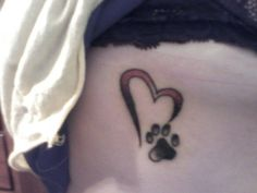 dog paw tattoo...maybe one of these days