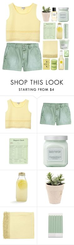 """""""❃;; and everything was yellow (Top Set)"""" by emma-love23 ❤ liked on Polyvore featuring Closed, Laura Mercier, Bormioli Rocco, Surya, CASSETTE, The Body Shop, Chanel, Davines, 23lovesets and 23topsets"""
