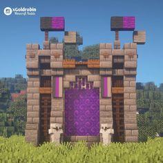 Minecraft Portal, Casa Medieval Minecraft, Art Minecraft, Easy Minecraft Houses, Minecraft Modern, Minecraft Castle, Minecraft Plans, Minecraft House Designs, Minecraft Decorations