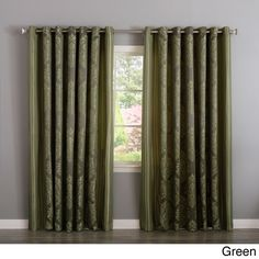 Aurora Home Wide Width Damask Jacquard Grommet 84-inch Curtain Panel Pair | Overstock.com Shopping - The Best Deals on Curtains