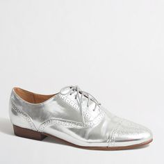 a7d28e6f965 J.Crew Factory Factory metallic oxfords Metallic Oxfords