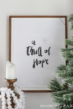 Bring a little hope into your home this Christmas season with this Thrill of Hope free Christmas printable. Click to download.