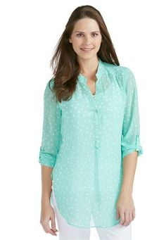 aa4572d6d672d Cato Fashions Polka Dot Popover Top  CatoFashions Spring Outfits Women