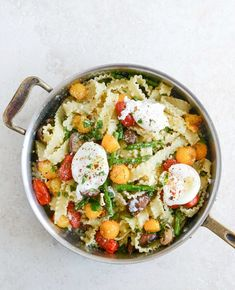 springtime pasta w/ blistered tomatoes + eggs • how sweet eats