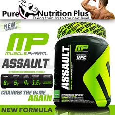 MUSCLE PHARM ASSAULT PRE WORKOUT SHAKE POWDER SUPPLEMENTFOR IMPROVED WORKOUT